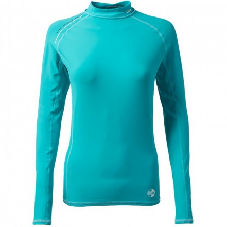 Gill Rash Vest Women Long Sleeve Aqua