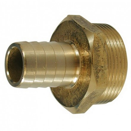 Aquafax Hose Connector DZR Straight Threaded