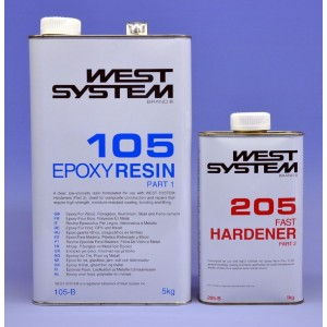 West System Epoxy Resin Packs 105/205