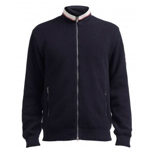 Holebrook Axel Fullzip Windproof Sweater Navy